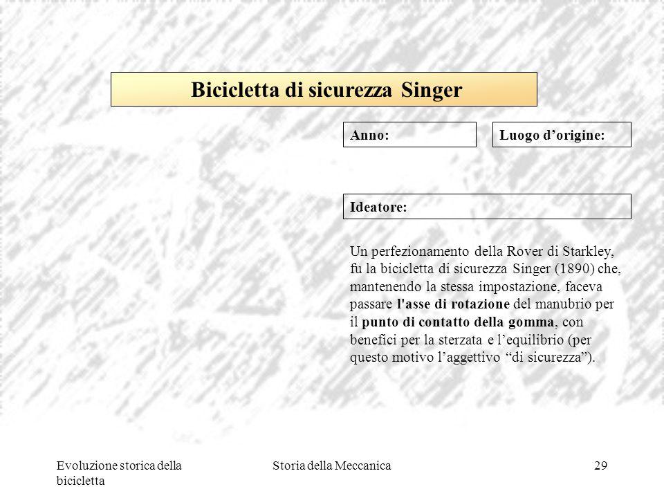 Bicicletta di sicurezza Singer