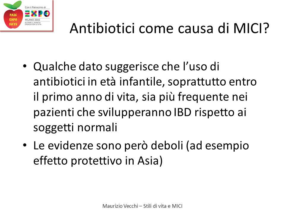 Antibiotici come causa di MICI