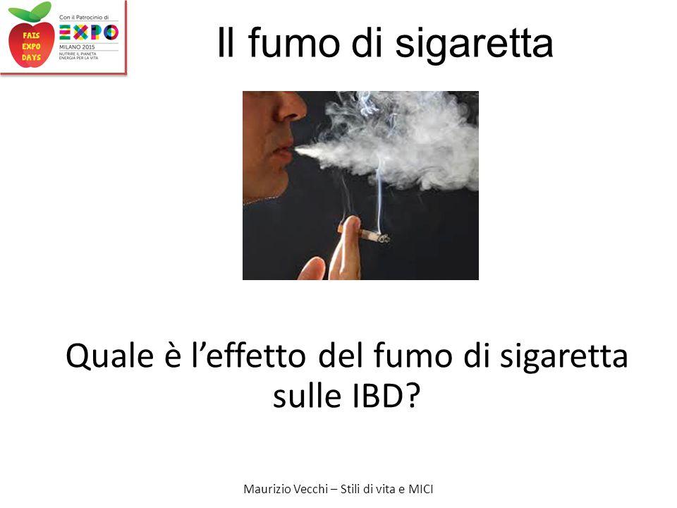 Quale è l'effetto del fumo di sigaretta sulle IBD