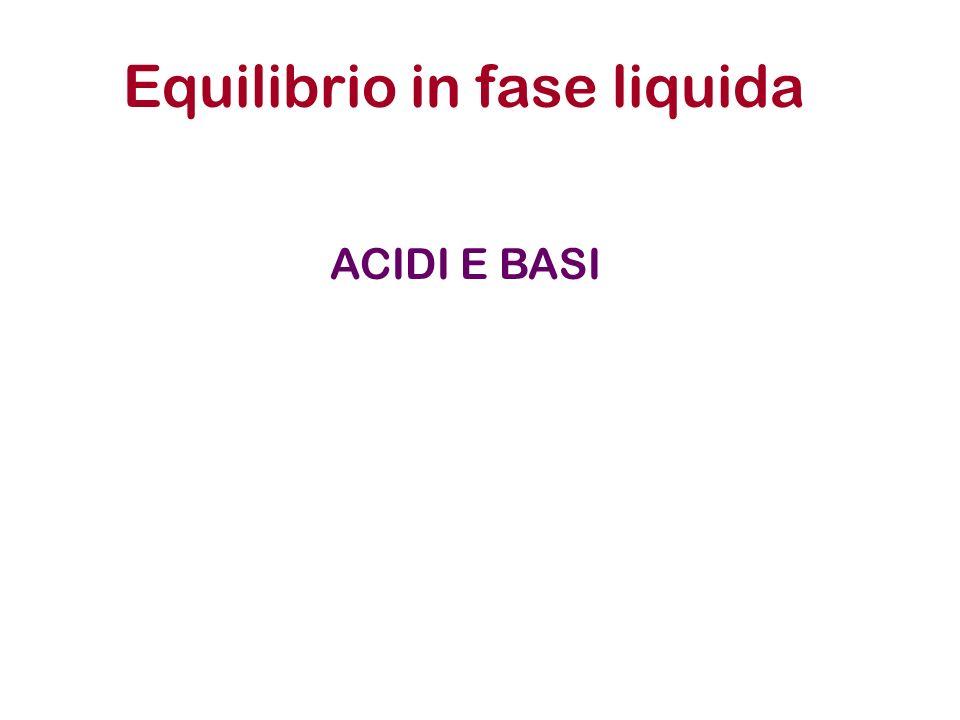 Equilibrio in fase liquida