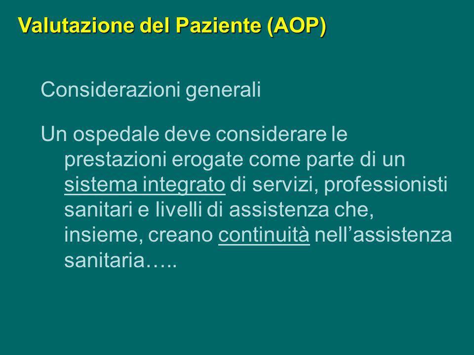 Valutazione del Paziente (AOP)