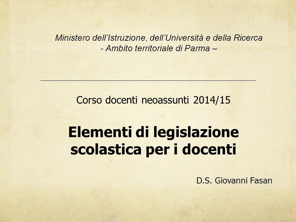Elementi di legislazione scolastica per i docenti