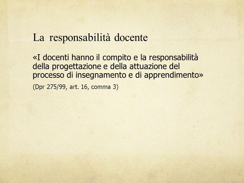 La responsabilità docente