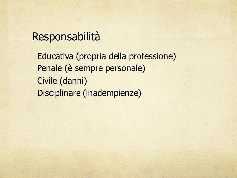 Responsabilità Educativa (propria della professione)
