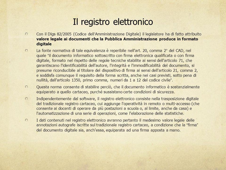 Il registro elettronico