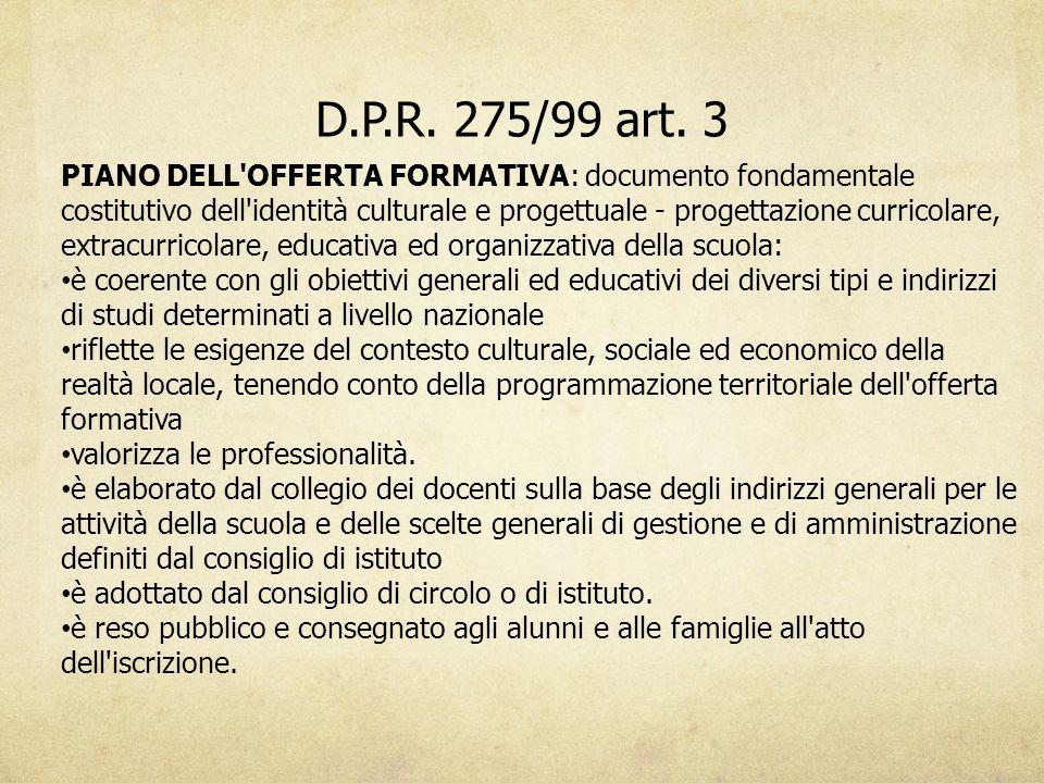 D.P.R. 275/99 art. 3