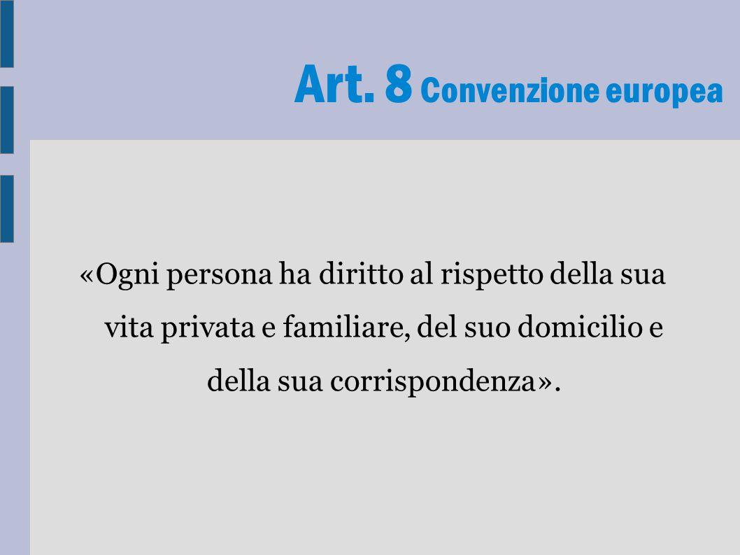 Art. 8 Convenzione europea
