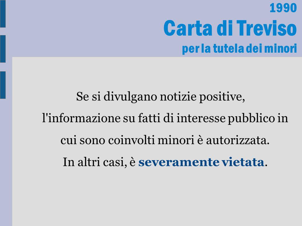 Carta di Treviso per la tutela dei minori