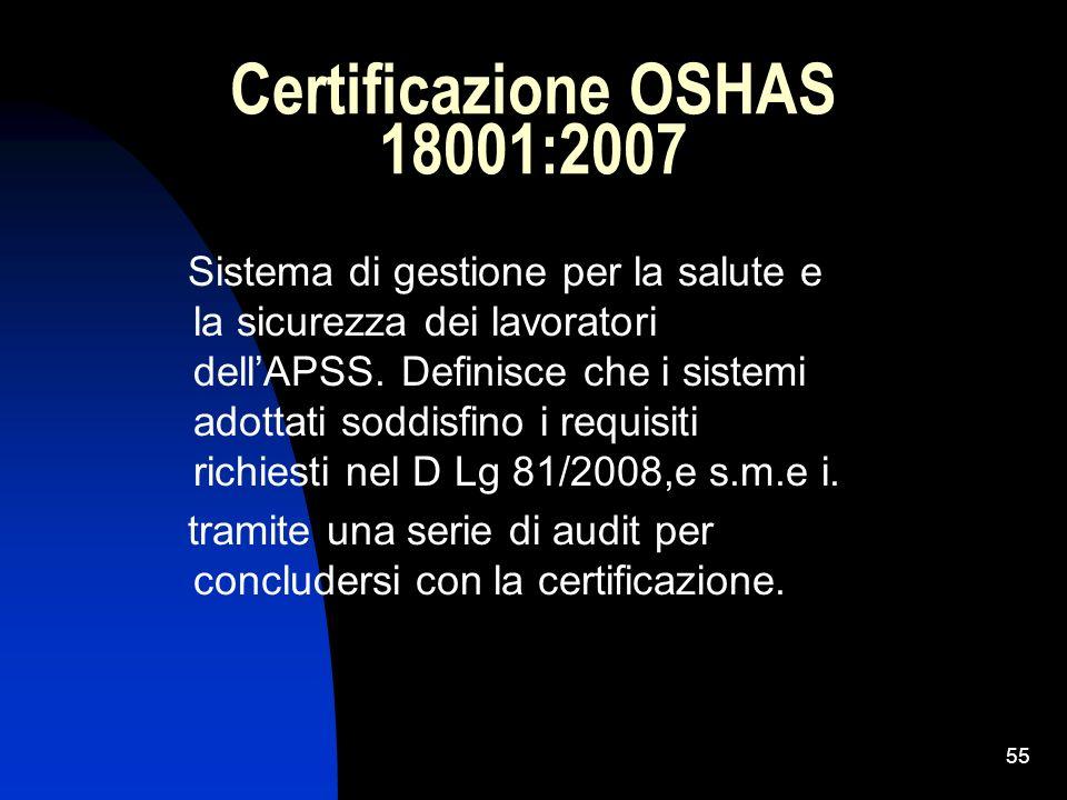 Certificazione OSHAS 18001:2007