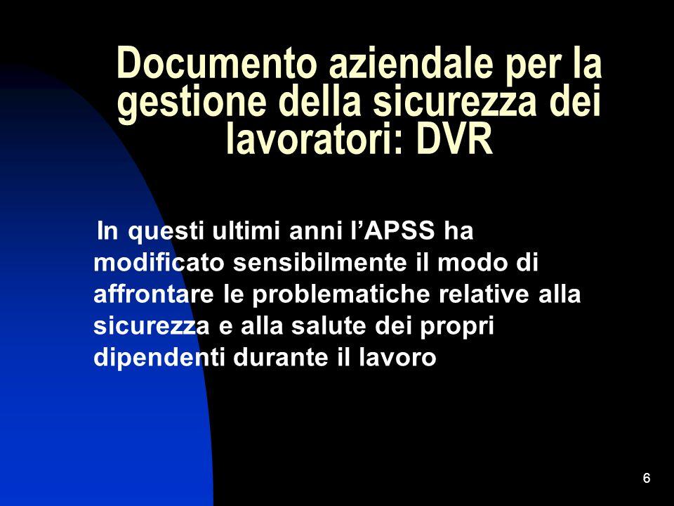 Documento aziendale per la gestione della sicurezza dei lavoratori: DVR