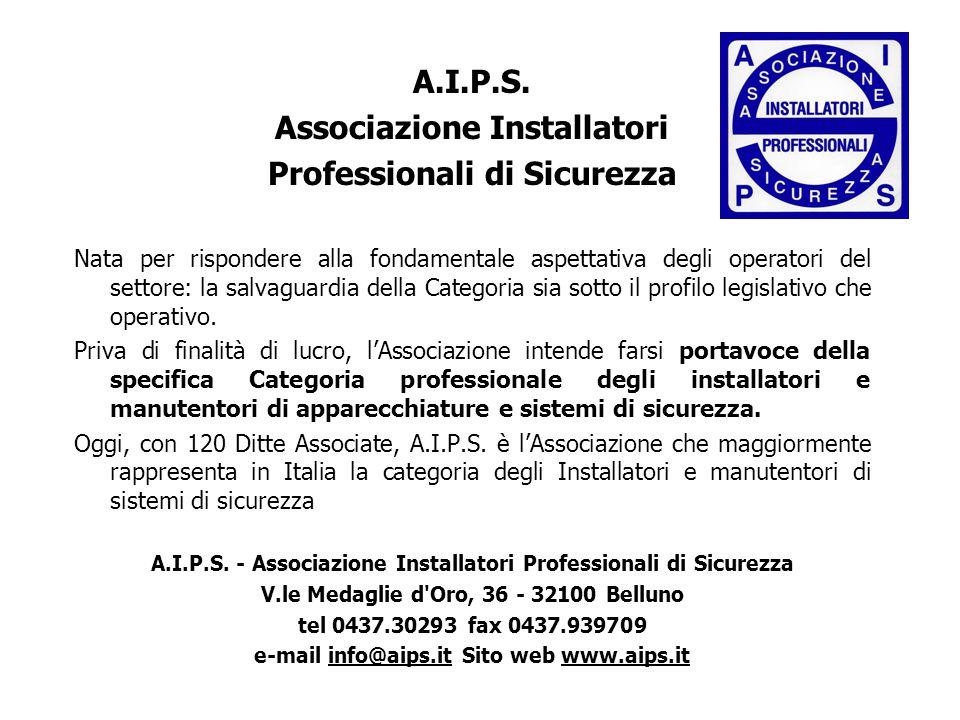 A.I.P.S. Associazione Installatori Professionali di Sicurezza