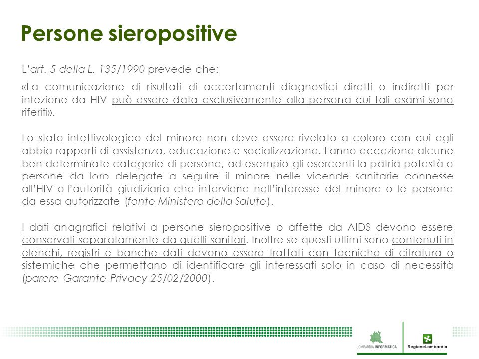 Persone sieropositive