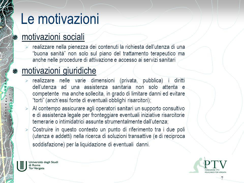 Le motivazioni motivazioni sociali motivazioni giuridiche