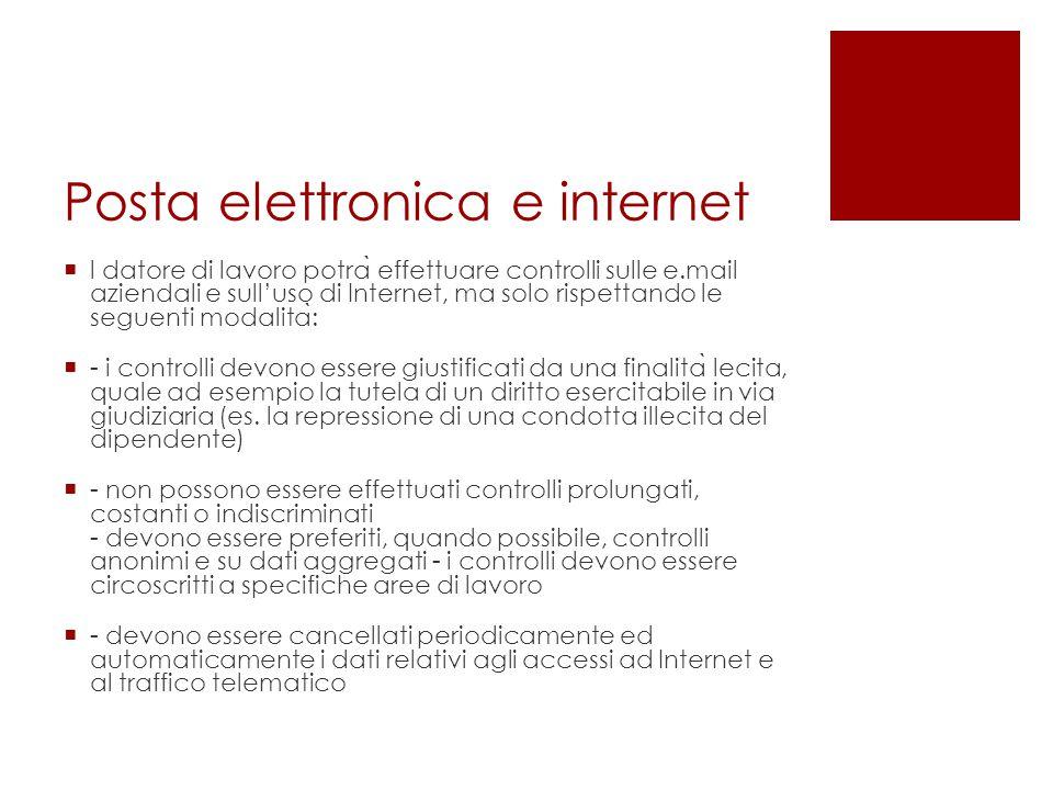 Posta elettronica e internet