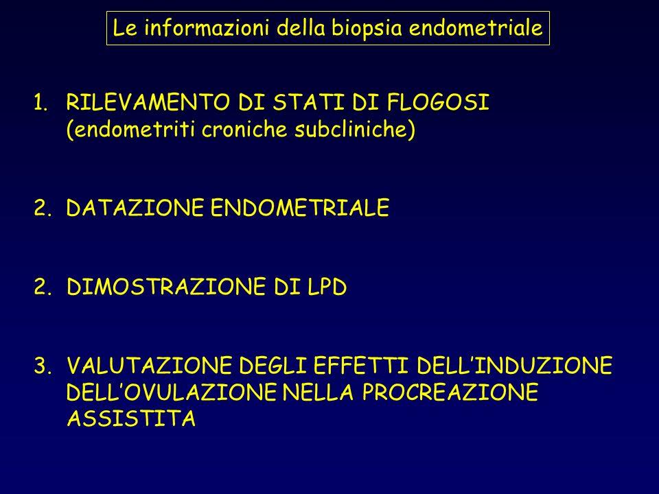 Le informazioni della biopsia endometriale
