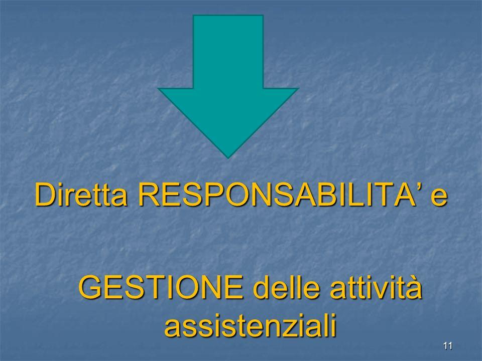 Diretta RESPONSABILITA' e GESTIONE delle attività assistenziali