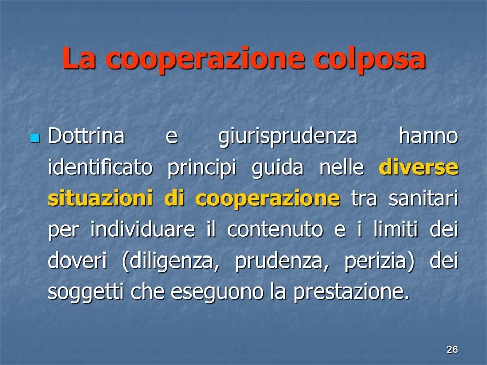 La cooperazione colposa