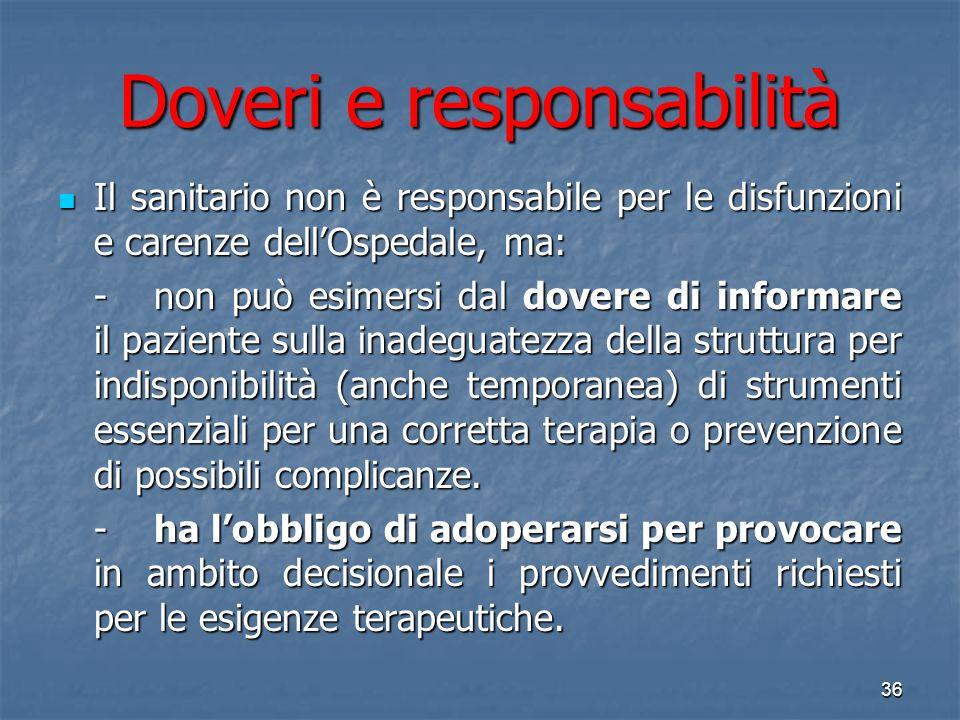 Doveri e responsabilità