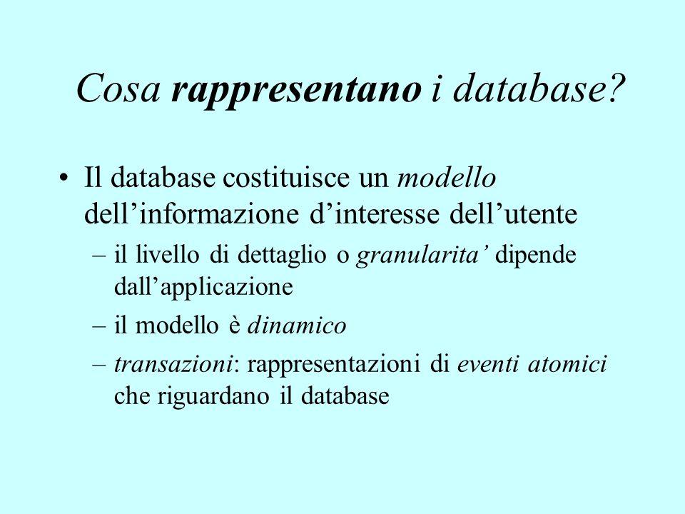 Cosa rappresentano i database