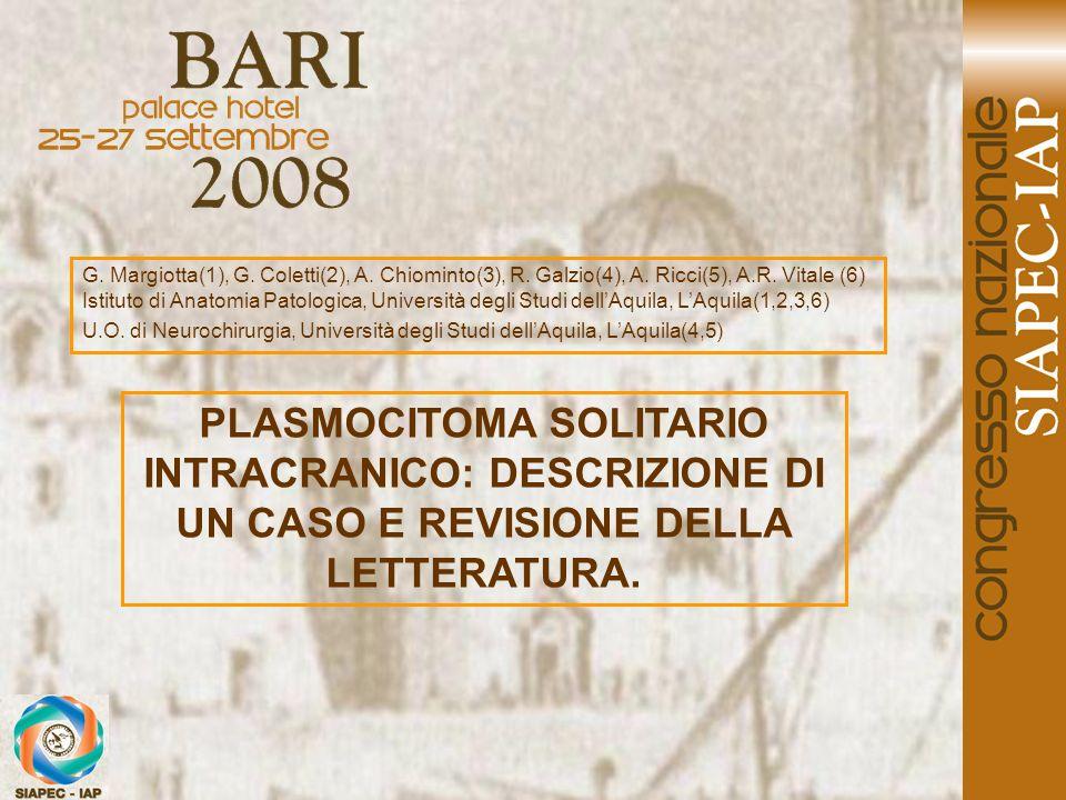 G. Margiotta(1), G. Coletti(2), A. Chiominto(3), R. Galzio(4), A