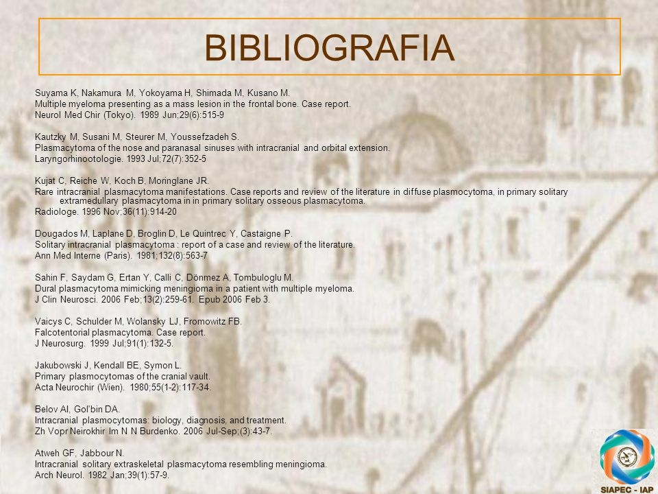 BIBLIOGRAFIA Suyama K, Nakamura M, Yokoyama H, Shimada M, Kusano M.
