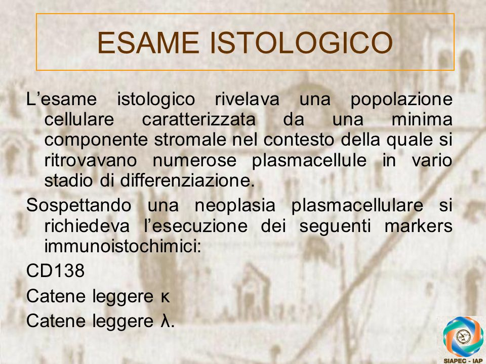 ESAME ISTOLOGICO
