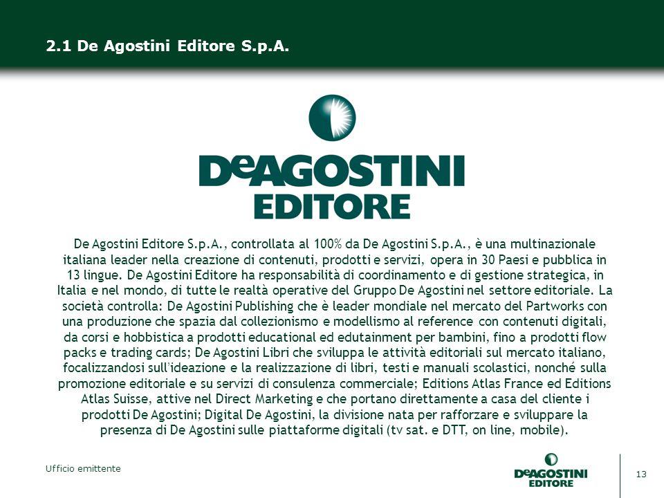 2.1 De Agostini Editore S.p.A.