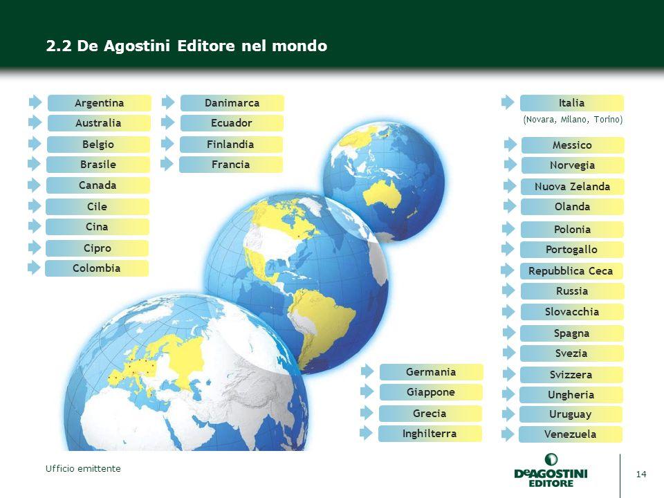 2.2 De Agostini Editore nel mondo