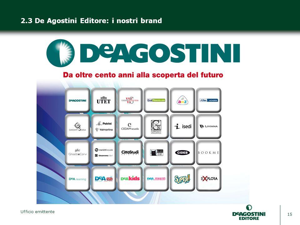 2.3 De Agostini Editore: i nostri brand
