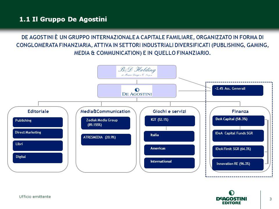 1.1 Il Gruppo De Agostini