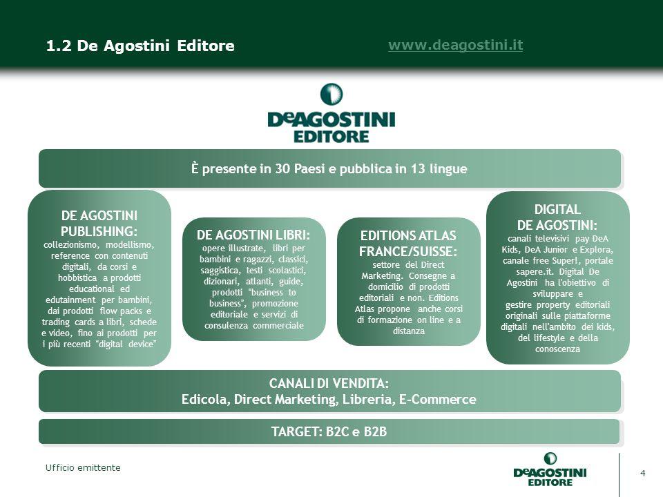 1.2 De Agostini Editore www.deagostini.it
