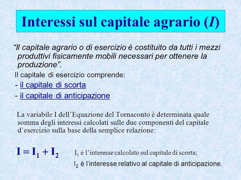 Interessi sul capitale agrario (I)