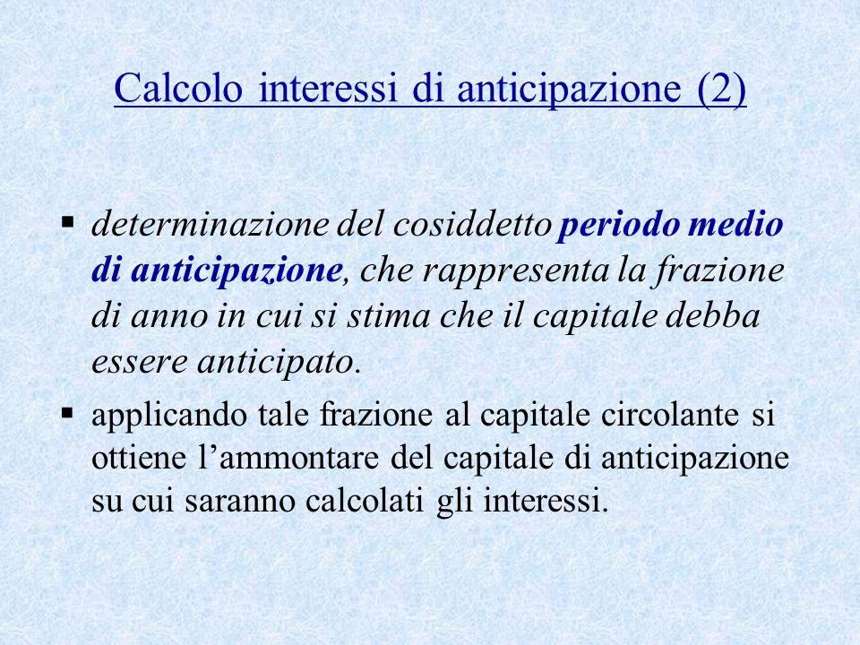 Calcolo interessi di anticipazione (2)