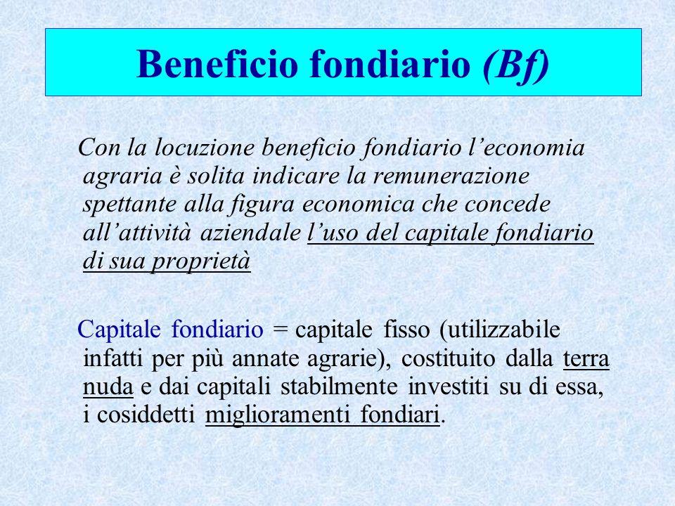 Beneficio fondiario (Bf)