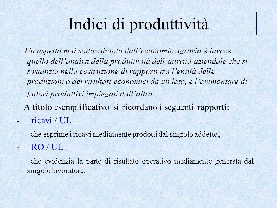 Indici di produttività