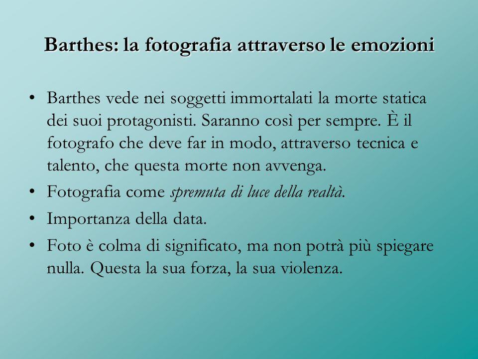 Barthes: la fotografia attraverso le emozioni