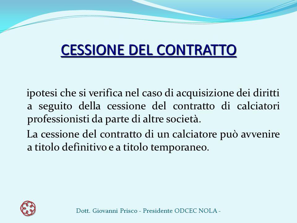 CESSIONE DEL CONTRATTO