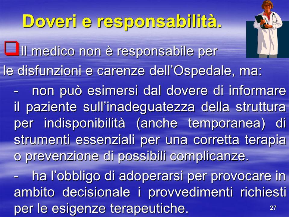 Doveri e responsabilità.