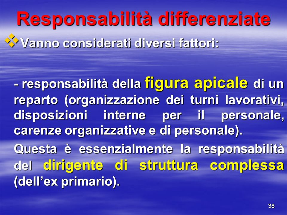 Responsabilità differenziate