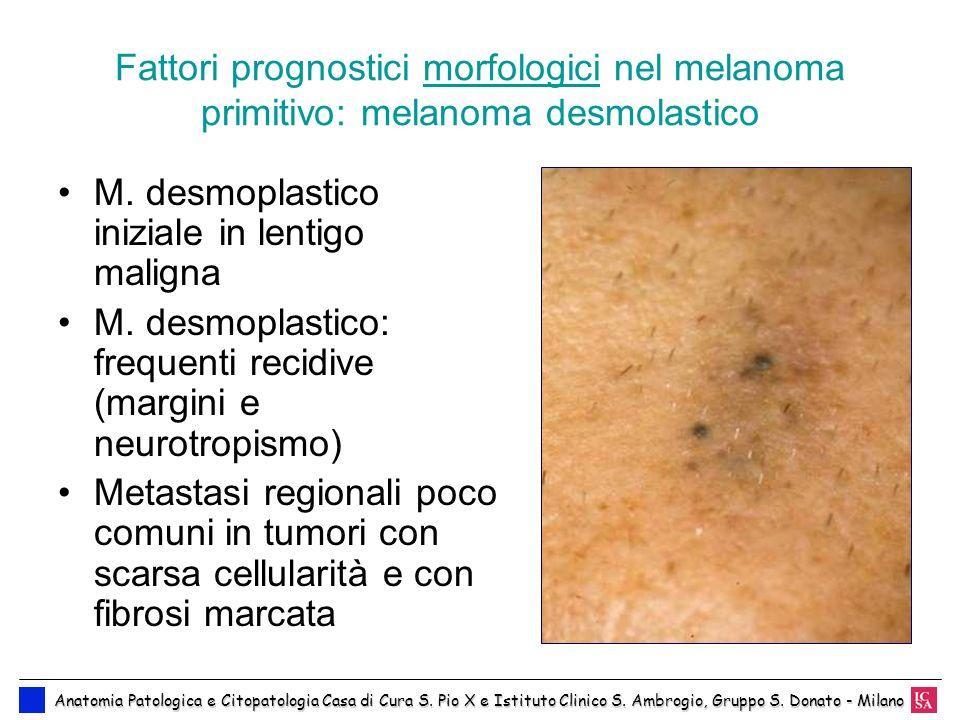 M. desmoplastico iniziale in lentigo maligna
