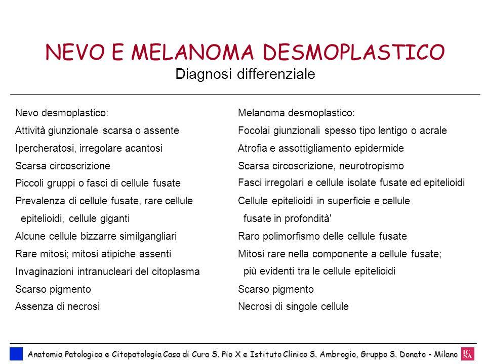 NEVO E MELANOMA DESMOPLASTICO Diagnosi differenziale