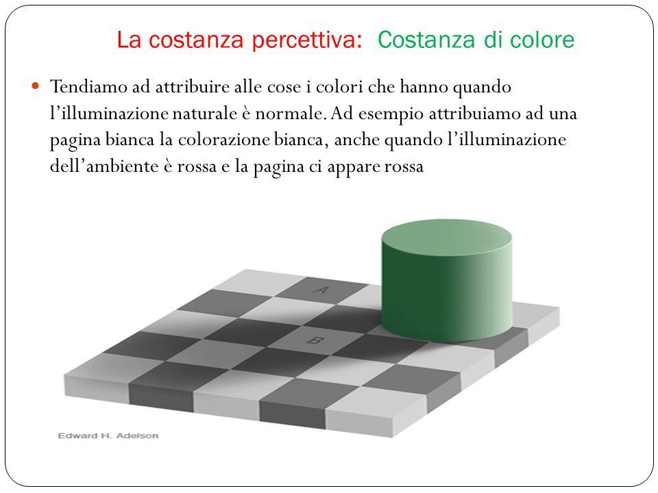 La costanza percettiva: Costanza di colore