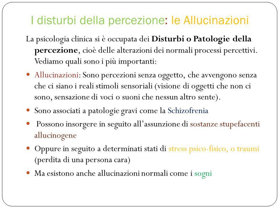 I disturbi della percezione: le Allucinazioni