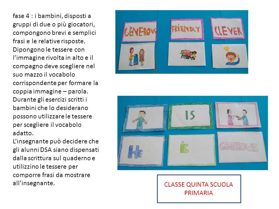 CLASSE QUINTA SCUOLA PRIMARIA