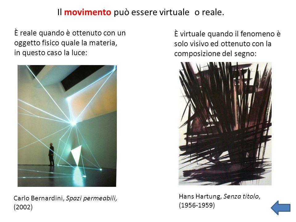 Il movimento può essere virtuale o reale.