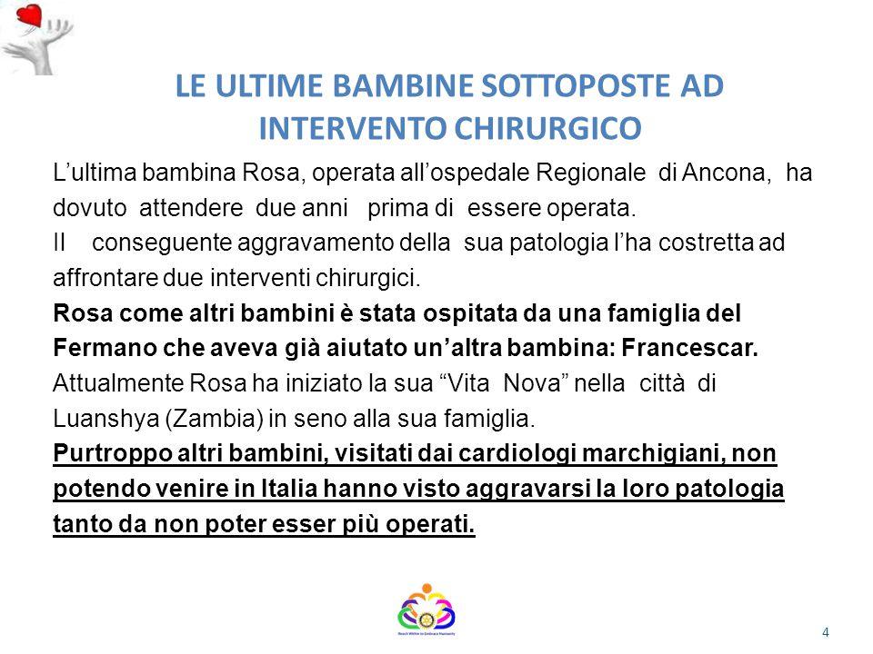 LE ULTIME BAMBINE SOTTOPOSTE AD INTERVENTO CHIRURGICO