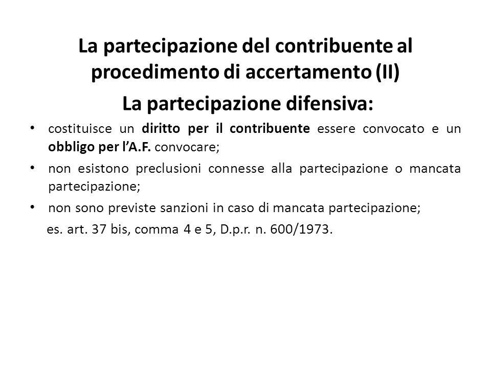 La partecipazione difensiva: