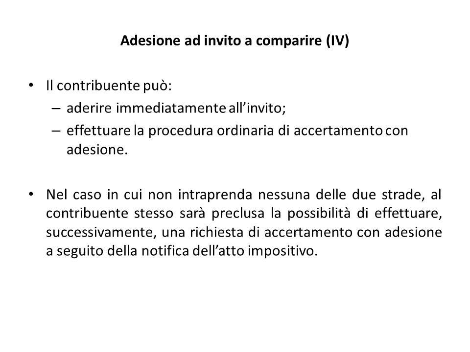 Adesione ad invito a comparire (IV)