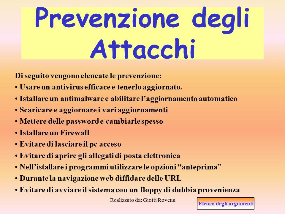 Prevenzione degli Attacchi