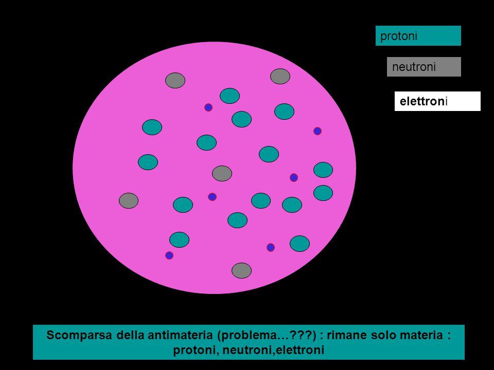 protoni neutroni. elettroni.